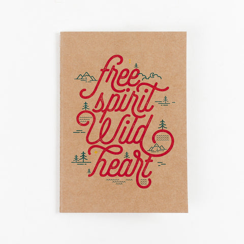 Free Spirit Wild Heart Kraft NoteBook