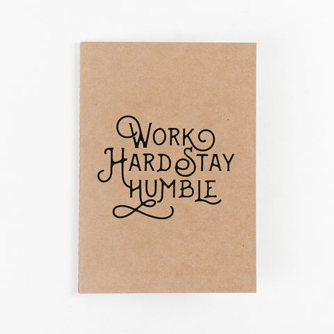Work Hard Stay Humble Kraft NoteBook