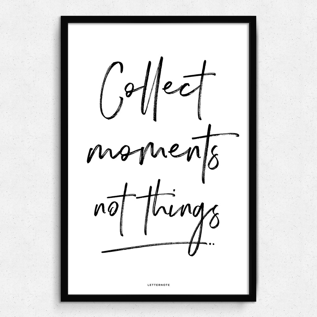 Collect Moments Art Print