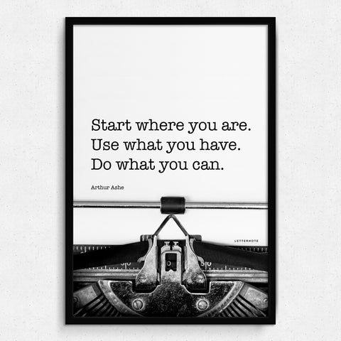 Start where you are Art Print