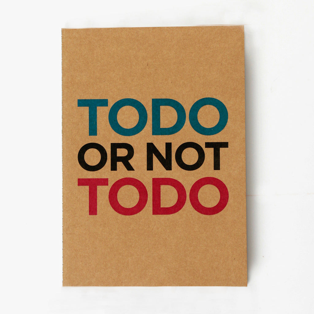 To Do Or Not To Do Kraft NoteBook