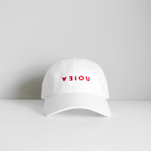 LOGO DAD HAT - WHITE/RED