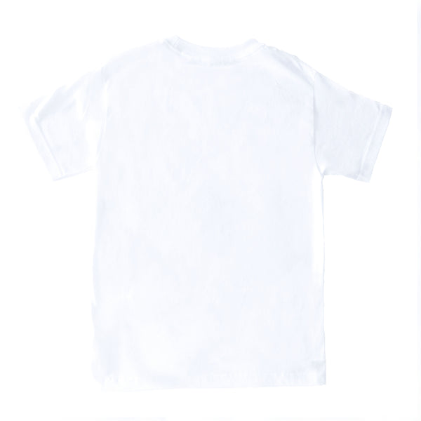 EMBROIDERED WHITE LOGO TEE