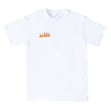 EMBROIDERED ORANGE LOGO TEE
