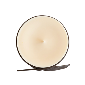 Decorated Soy Wax Candle LEATHER AND SMOKE
