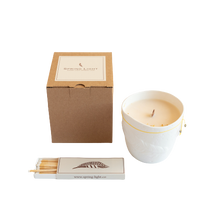 Bone China Vessel Candle AMBER