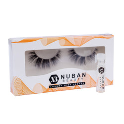 3D LUXURY MINK LASH WITH LASH GLUE - Nuban Beauty