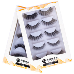 5-IN-ONE LUXURY EYELASHES - Nuban Beauty
