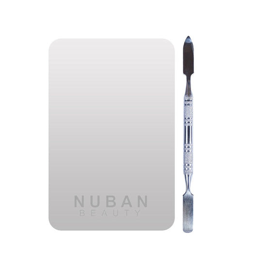 MIXING PALETTE AND SPATULA - Nuban Beauty
