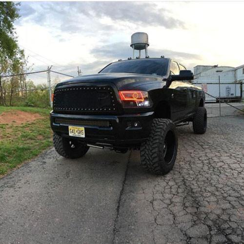 09-15 Dodge Ram Quad bluetooth halo headlight kits-Vivid Light Bars