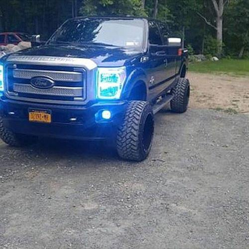 11-16 Ford F250/F350 halo headlight kits with bluetooth remote controller-Vivid Light Bars