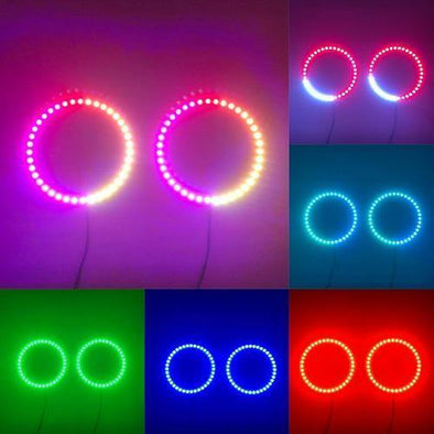 120mm RGB Chasing Ring Halo ( 2 pack/a Pair )-Vivid Light Bars