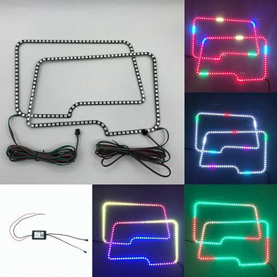 2009-2014 Ford150 RGB chasing halo headlight kits with bluetooth remote-Vivid Light Bars