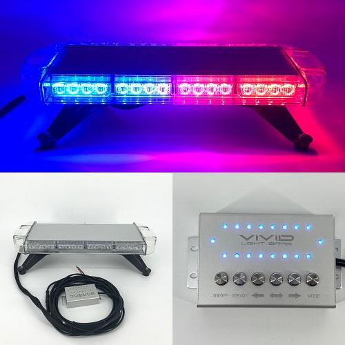 "21.5"" 40W TIR Emergency Low Profile Roof Mount Emergency Vehicle Light bar with Control Switch Panel-New Arrival-Vivid Light Bars"