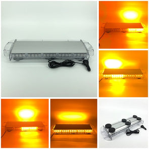 "25.5"" 48W TIR Emergency Low Profile Roof Beacon Magnetic Mount LED Light Bar with cigarette lighter plug - Vivid Light Bars"