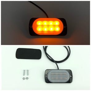 3.5'' 8W 8-LED Double Row Car Truck Emergency Warning LED Strobe Side Flash Light - Vivid Light Bars