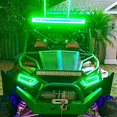 "31.5"" LED Light Bar RGB Halo Bluetooth App Remote Control-Vivid Light Bars"