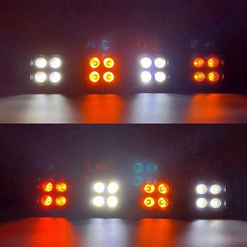 "3.2"" 20W Dual Color Strobe LED Pods-LED Lights Pods & Jeep Headlight-Vivid Light Bars"