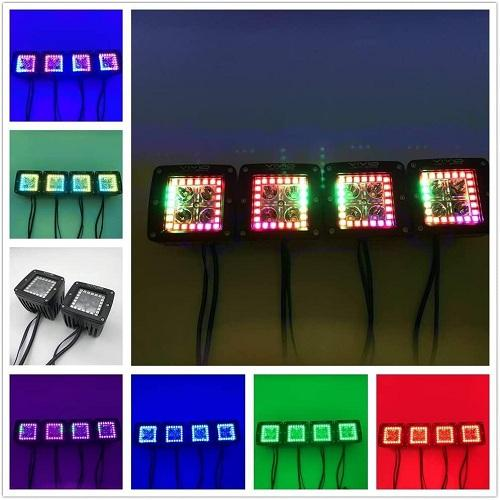 "3.2"" 5D 40W Chasing LED Halo Pods/Cubes With Bluetooth App Remote Control-Vivid Light Bars"