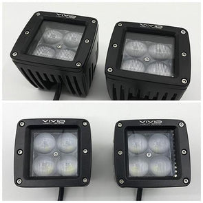 "3.2"" 5D 40w LED Pods/Cubes ( a pair )-LED Lights Pods & Jeep Headlight-Vivid Light Bars"