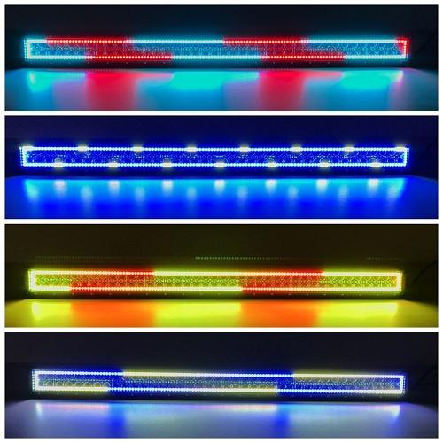 "41.5"" RGB Chasing Flow Halo Light Bar With Bluetooth App Remote Control-Vivid Light Bars"