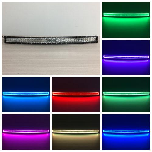 "41.5"" RGB Halo Curved Light Bar With Bluetooth Remote Control-RGB Halo Curved Light Bar-Vivid Light Bars"