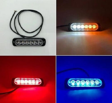 "4.45"" 18w 6leds Ultra-thin flashing warning light-LED Lights Pods & Jeep Headlight-Vivid Light Bars"