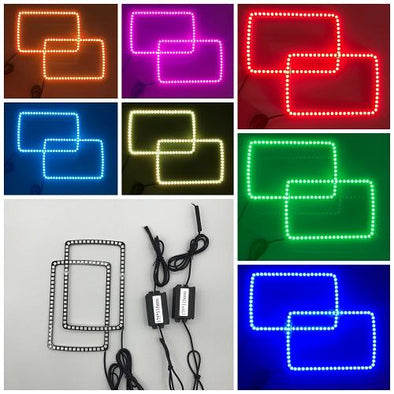 5 x 7 INCH VIVID RGB HALOS Headlight Kits-Vivid Light Bars