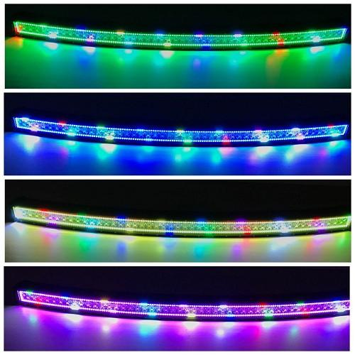 "50"" Curved RGB Chasing Flow Halo Light Bar With Bluetooth App Remote Control-RGB Chasing Curved Light Bar-Vivid Light Bars"