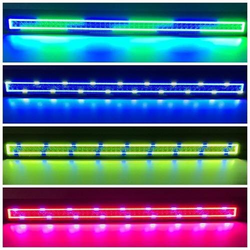 "50"" RGB Chasing Halo Light Bar With Bluetooth App Remote Control-Vivid Light Bars"
