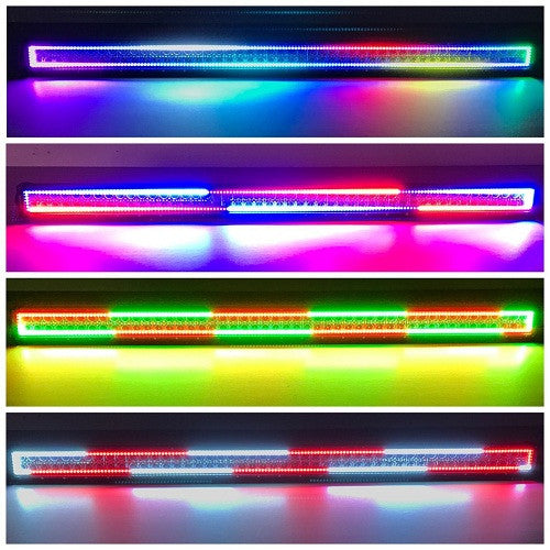 "52"" RGBW Chasing Halo Light Bar With Bluetooth App Remote - Vivid Light Bars"