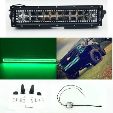 "52"" LED Light Bar RGB Halo Bluetooth App Remote Control-Vivid Light Bars"