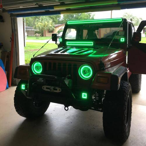 "54"" LED Light Bar RGB Halo Bluetooth App Remote Control-Vivid Light Bars"