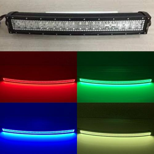 54'' RGB Halo Curved Light Bar With Bluetooth Remote Control-RGB Halo Curved Light Bar-Vivid Light Bars