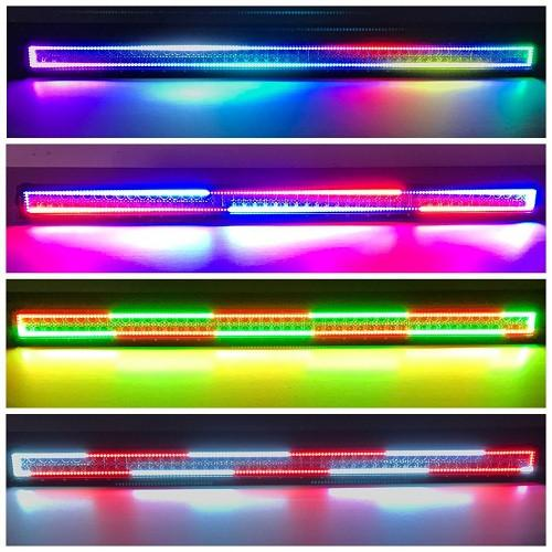 "54"" RGBW Chasing Halo Light Bar With Bluetooth App Remote-Vivid Light Bars"