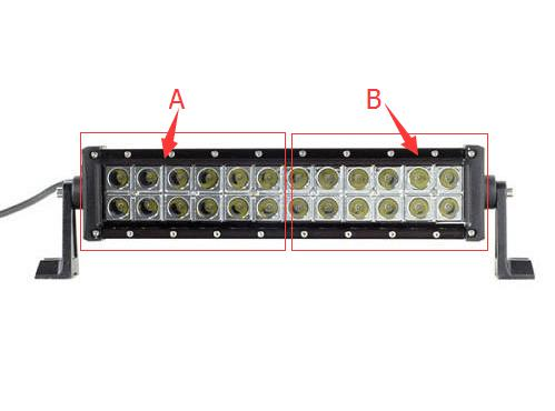 Dual Color Strobe 13.5 Inch Led Light Bar-Color Changing Straight Light Bar-Vivid Light Bars