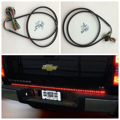 "60"" Truck Tailgate Red White LED Brake Signal Light Strip-Flexible RGB Strip Lights-Vivid Light Bars"