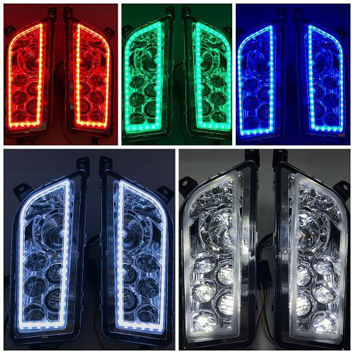 2014-16 RZR XP1000 LED headlights with RGB Halo High/Low Beam-Vivid Light Bars