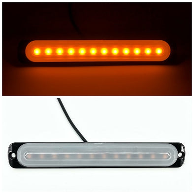 7.5'' 12W 12-LED Car Truck Emergency Warning LED Strobe Side Flash Light - Vivid Light Bars