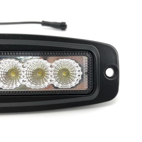 7.3 inch Alternate/ Sync Flash LED Work Light Bar Flush Mount Led Pods Off Road Lamp 18W - Vivid Light Bars