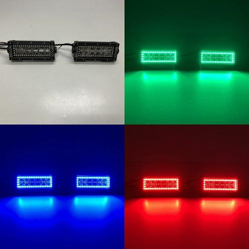"7.5"" LED Light Bar RGB Halo Bluetooth App Remote Control-LED Light Bar Halo-Vivid Light Bars"