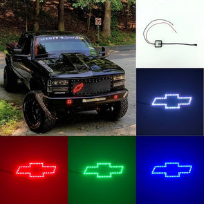 Chevy bowtie emblem/chevy symbol rgb halo with bluetooth controller