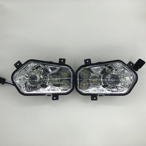 Newest 2011-2014 Polaris RZR 900 High/Low Beam Led Headlight kit - Vivid Light Bars