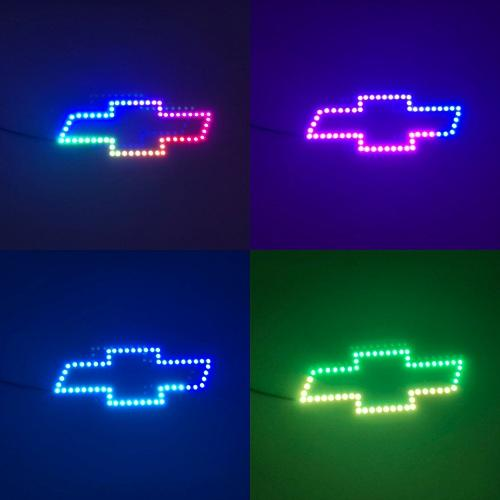 Chevy bowtie emblem rgb chasing flow halo with bluetooth controller-Vivid Light Bars