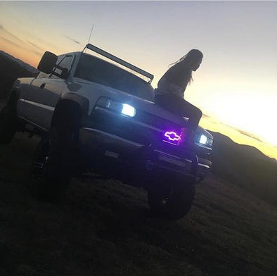Chevy bowtie emblem/chevy symbol rgb halo with bluetooth controller-Vivid Light Bars