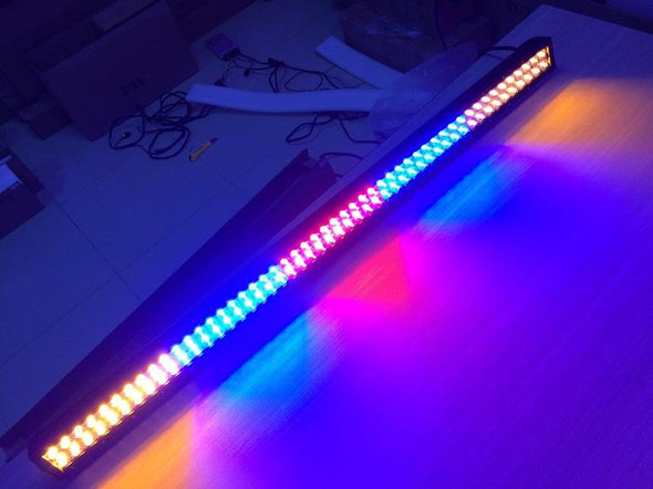 Dual Color Strobe 52 Inch Led Light Bar-Color Changing Straight Light Bar-Vivid Light Bars