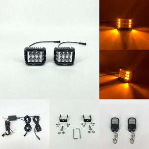 Upgraded 3.75'' Dual Side Shooter Dual Color Strobe Cree Pods ( 30w white, 18w amber ) - Vivid Light Bars