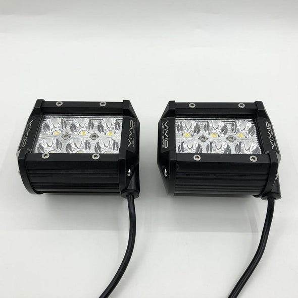 Package of 1 Dual Color Light Bar & 2 Pack 4 Inch 30W LED Pods-Vivid Light Bars