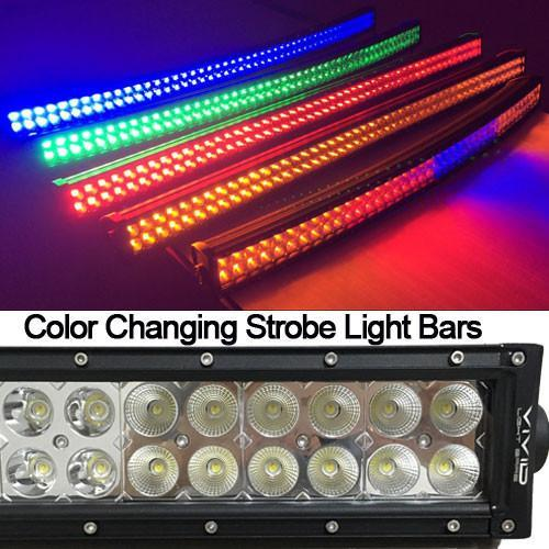 Package of 1 Dual Color Light Bar & 6 Pack 4 Inch 30W LED Pods-Vivid Light Bars