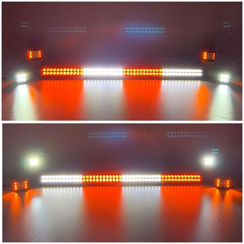 "Package of 1/2 Dual Color Light Bar & 4/6/8 Pack 3.75"" Ditch CREE Pods-New Arrival-Vivid Light Bars"
